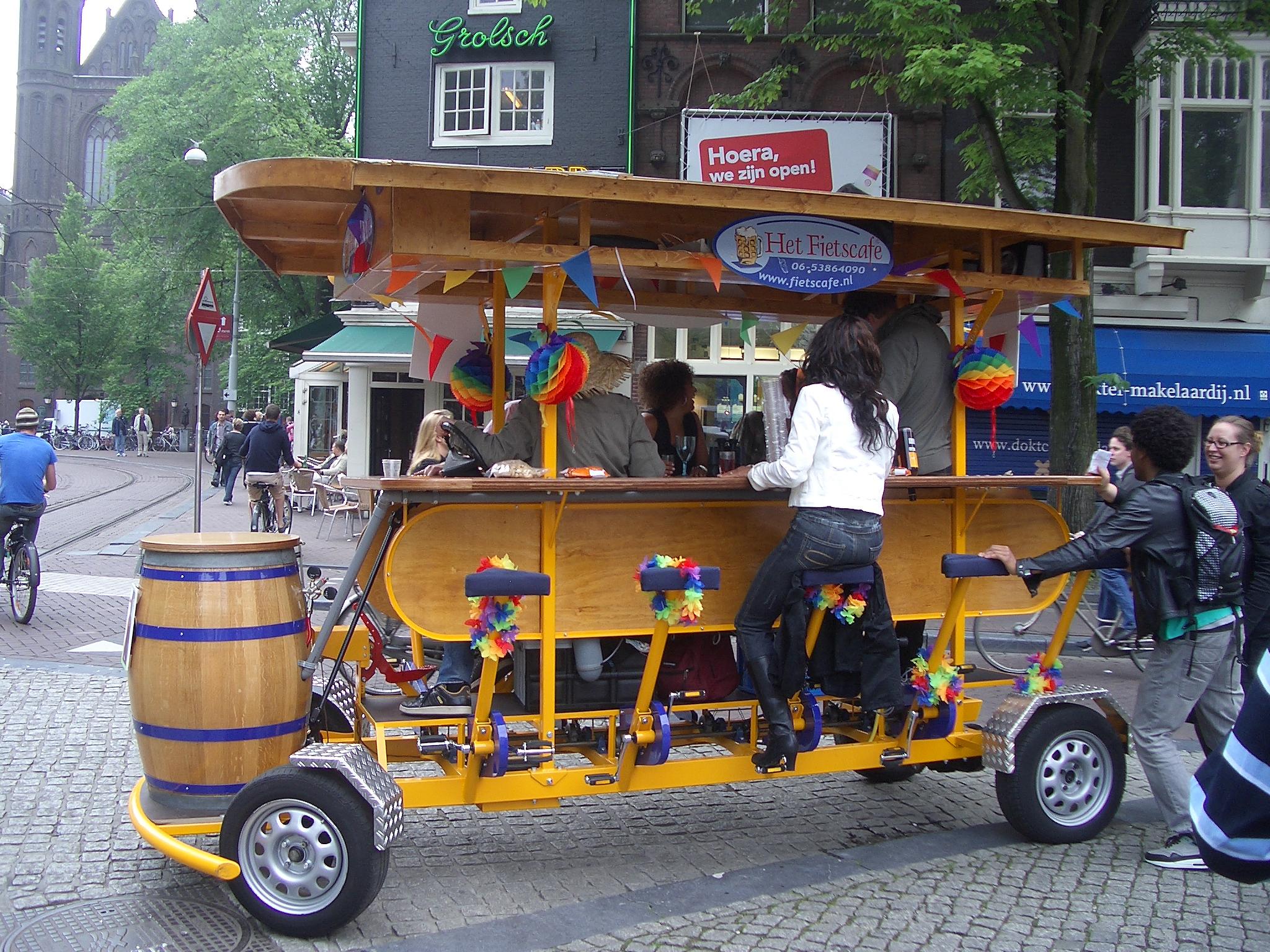 Het FietCafe, la Birra mobile olandese