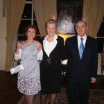 Cristina con l'Ambasciatore e sua Moglie