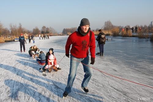 Olanda sotto ghiaccio.. tutti a pattinare