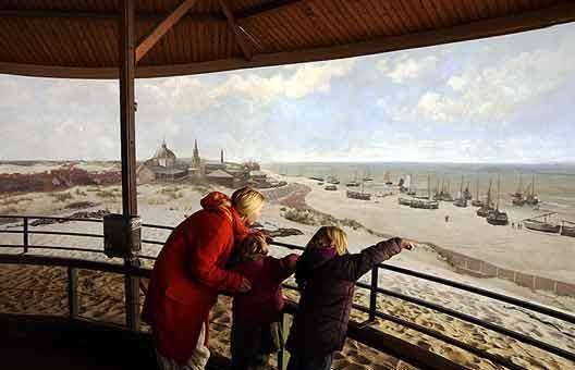 Una tela lunga 120 metri e alta 14 per il Panorama della Scheveningen dell'epoca