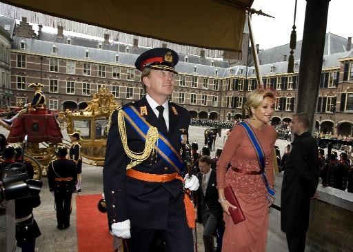 Willem Alexander e Maxime al Prinsjesdag