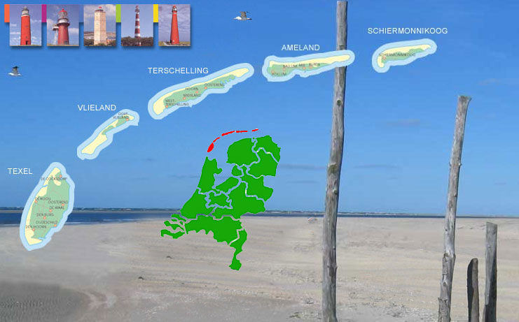Le Isole ddella Frisia, la Mappa Geografica