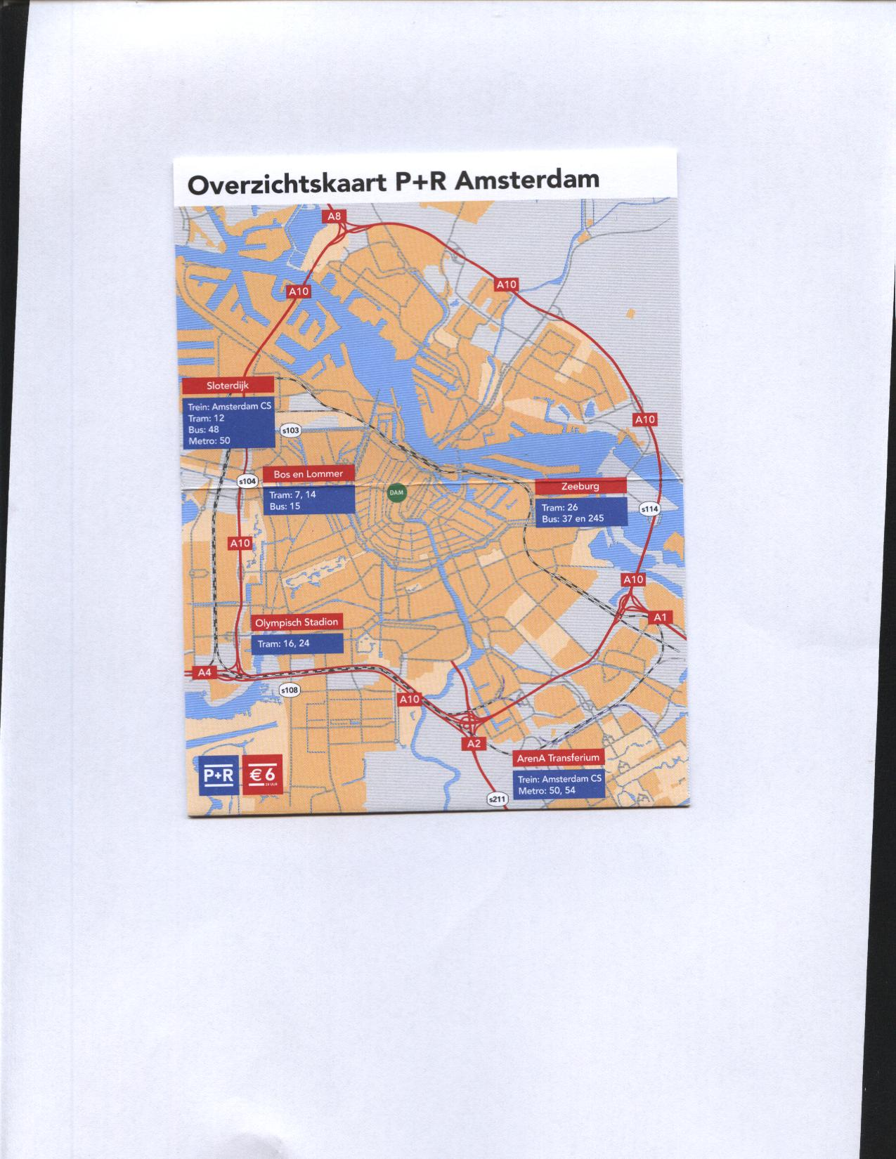 Amsterdam cartina 5 parcheggi economici