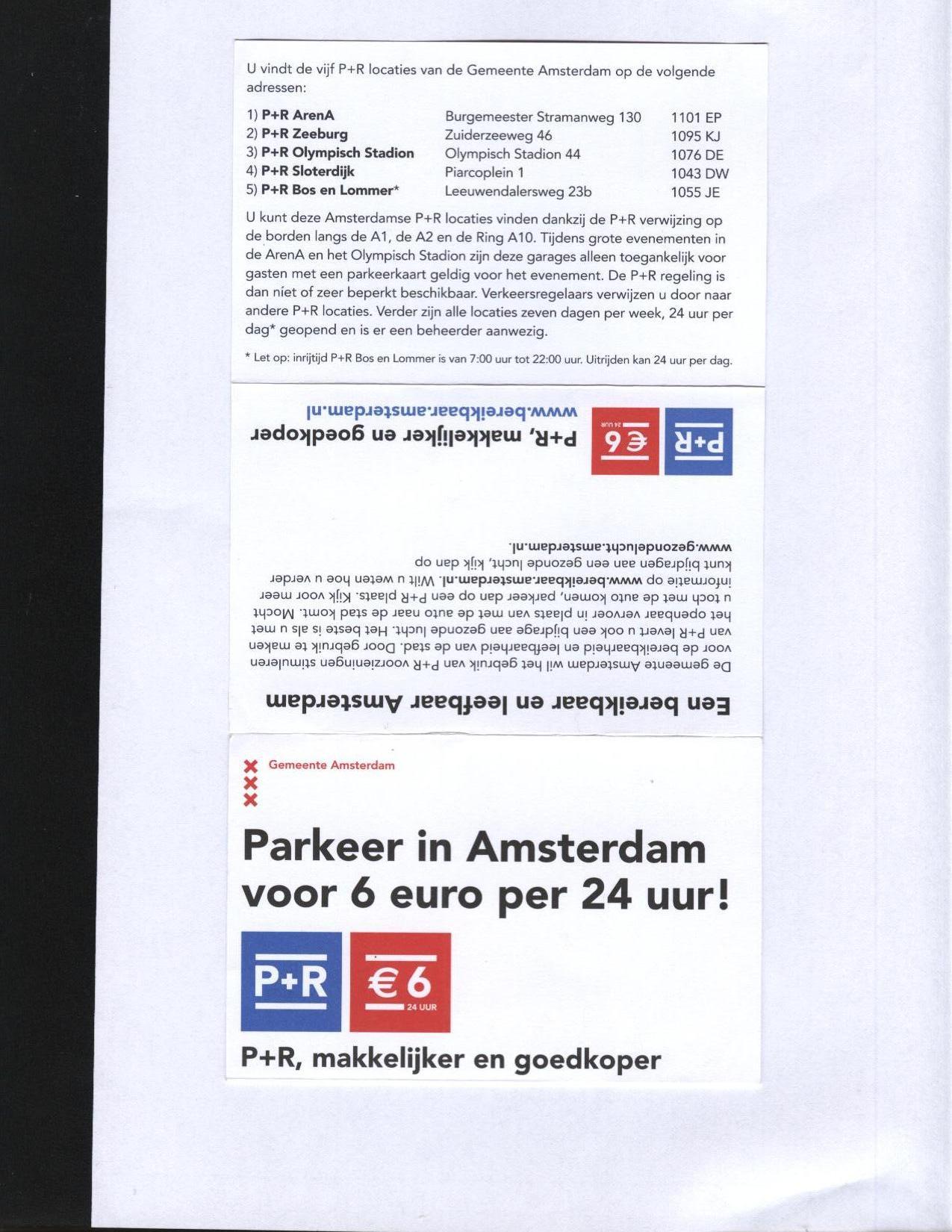 amsterdam indirizzi parcheggi a 6 euro al giorno